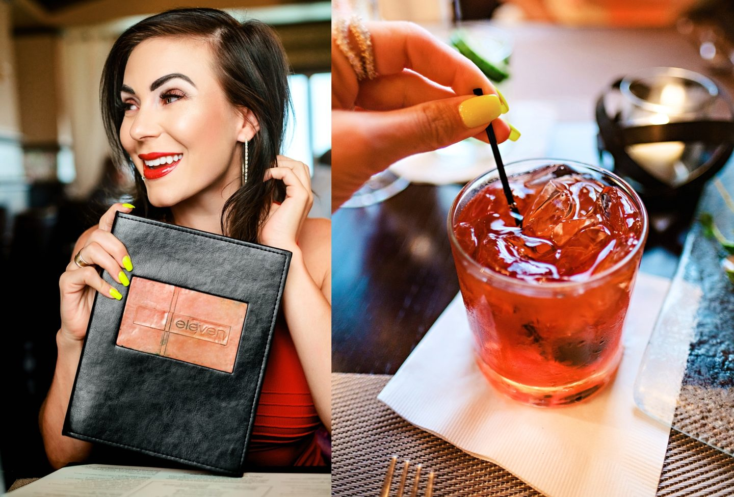 Reunion Resort by popular Atlanta travel blog, Chelissima: image of Chelsea Patricia at the Reunion Resort restaurant and a alcoholic drink.