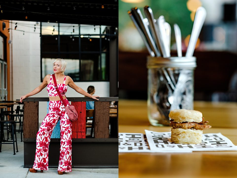 Holler And Dash, the New Brunch Spot in Atlanta // Red & White Floral Co-ord by Atlanta fashion blogger Chelissima