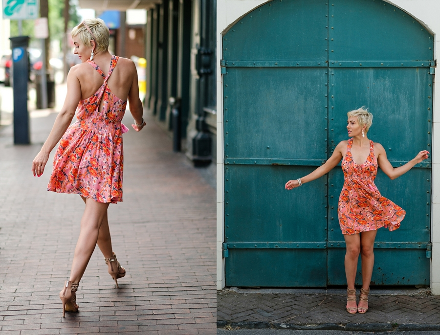 South Moon Under Floral Mini Dress by Atlanta fashion blogger Chelissima 0013