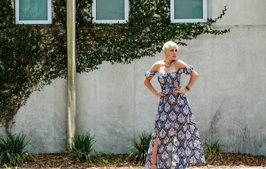 South Moon Under:  Off the Shoulder Maxi Dress
