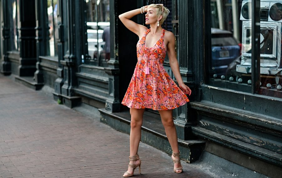 South Moon Under // Free People Floral Mini Dress