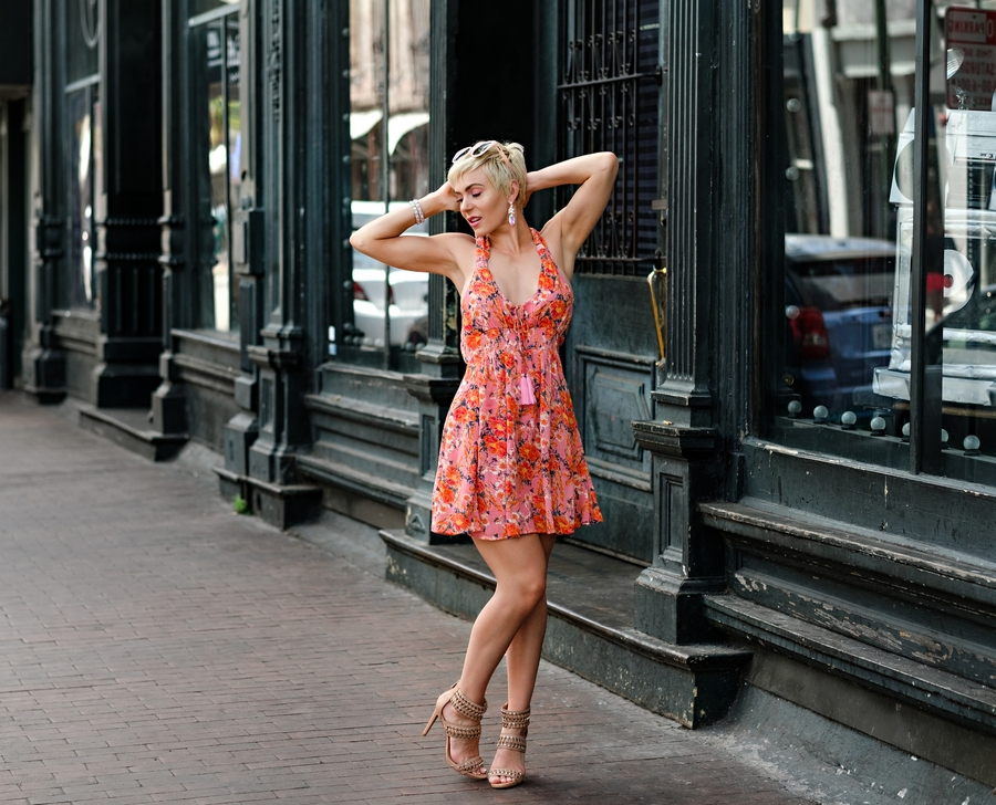 South Moon Under Floral Mini Dress by Atlanta fashion blogger Chelissima